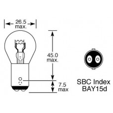 Лампа стоп сигнала / задний габарит